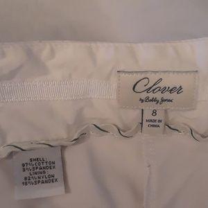 Clover white skort